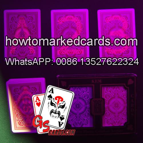 KEM Arrow baralho marcado para poker luminosas