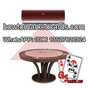 Klimaanlage Infrarot linsen zum Lesen von unsichtbar markierten Pokerkarten