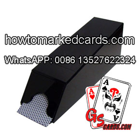 Remote control Blackjack shoe camera to read regular poker