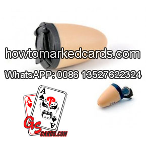 Earpiece for receiving poker game result