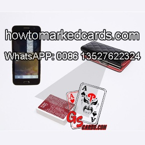 cheating wallet with double texas poker cards scanners