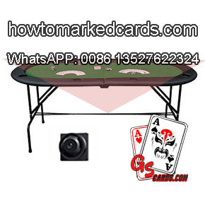 Poker table playing cards reader for barcode marking decks