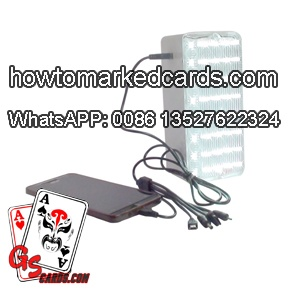 IR camera to see hidden marks poker