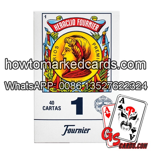 Heraclio Fournier No.1 juice marked cards