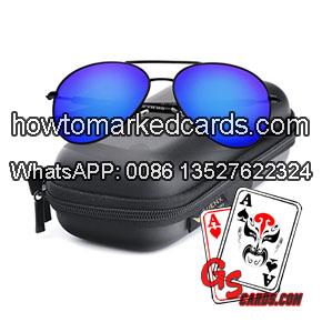 Infrared sunglasses for luminous marked playing cards