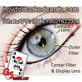 professional marked cards contact lenses