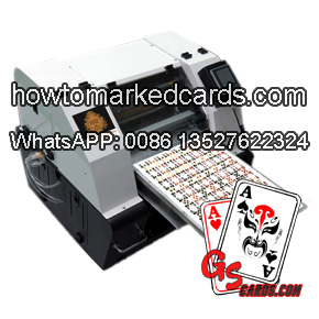 Luminous ink marked cards printer
