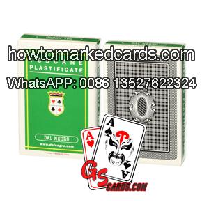 Infrared barcode marking Dal Negro poker cards