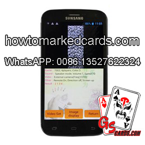 Special one to one magic barcode marking decks poker scanning system