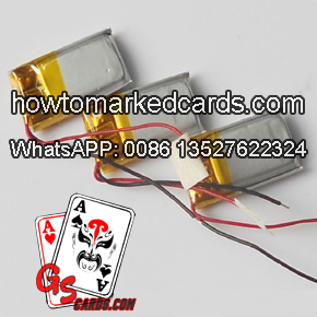 Battery for marked cards scanner