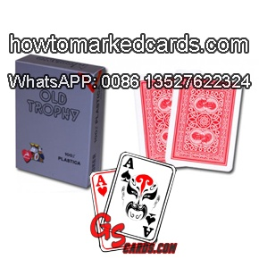 modiano old trophy invisible marked cards