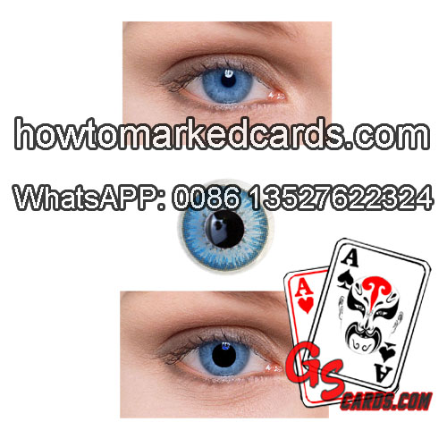 Magic juice marked poker cards X ray contact lenses