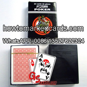 NTP poker gaming cards with marks
