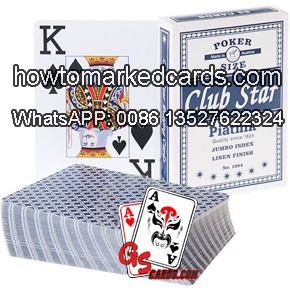 Magic using Piatnik Club Star marked cards