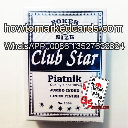 Magia usando Piatnik Club Star baralho marcado