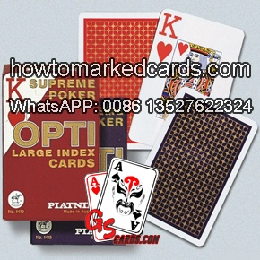 Cheating Piatnik OPTI bridge size cards of large index