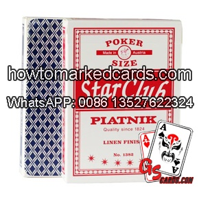 piatnik star club marked cheating cards