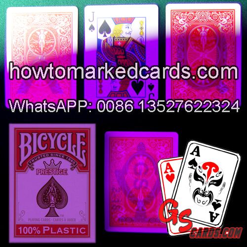 Plastic marked Bicycle playing cards
