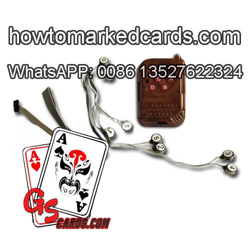 Playing cards games remote control vibrator