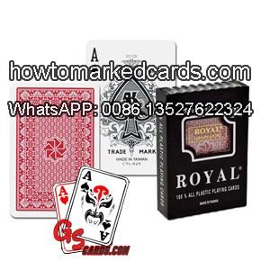 Royal reguläre Indexspielkarten mit Karten Markierungen