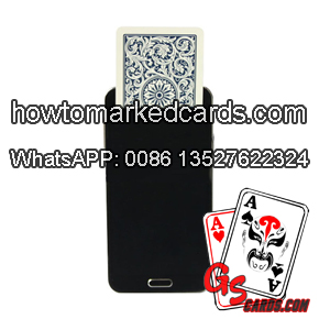 Playing cards switcher phone for cards tricks