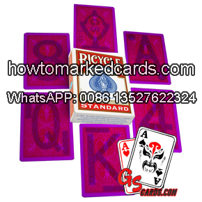 Ultraviolet contact lenses marked playing cards Bicycle